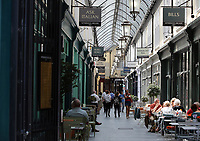 Pictured: Wyndham Arcade, Cardiff Thursday 25 May 2017<br />Re: Preparations for the UEFA Champions League final, between Real Madrid and Juventus in Cardiff, Wales, UK.