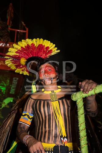Imperatriz Leopolinense Samba School, Carnival, Rio de Janeiro, Brazil, 26th February 2017. The 'Beautiful Monster' - Belo Monstro - float. Kamikiá Kisedje.
