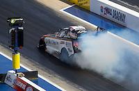 Sep 17, 2016; Concord, NC, USA; NHRA funny car driver Tim Wilkerson during qualifying for the Carolina Nationals at zMax Dragway. Mandatory Credit: Mark J. Rebilas-USA TODAY Sports