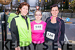 Anne Marie Kennedy, Teresa O'Donoghue, and Anne Foley from Killarney at the Good Friday 5 miles run in Killarney last Friday.