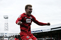 O's JOsh Wright scores OP's 4th and celebrates during Grimsby Town vs Leyton Orient, Sky Bet EFL League 2 Football at Blundell Park on 19th October 2019