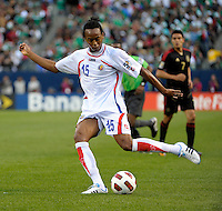 Costa Rica's Junior Diaz kicks the ball.  Mexico defeated Costa Rica 4-1 at the 2011 CONCACAF Gold Cup at Soldier Field in Chicago, IL on June 12, 2011.