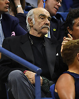 FLUSHING NY- AUGUST 29: Sean Connery seen watching Roger Federer Vs Frances Tiafoe at the 2017 US Open Tennis at the USTA Billie Jean King National Tennis Center on August 29, 2017 in Flushing Queens. Credit: mpi04/MediaPunch ***NO NY DAILIES***