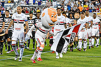 Orlando, FL - Saturday Jan. 21, 2017: São Paulo mascot leads the team onto the field during prior to the start of the Florida Cup Championship match between São Paulo and Corinthians at Bright House Networks Stadium.