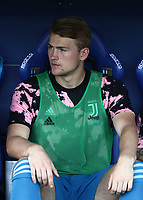 Calcio, Serie A: Parma - Juventus, Parma stadio Ennio Tardini, 24 agosto 2019.<br /> Juventus' Matthijs de Ligt prior to the Italian Serie A football match between Parma and Juventus at Parma's Ennio Tardini stadium, August 24, 2019. <br /> UPDATE IMAGES PRESS/Isabella Bonotto