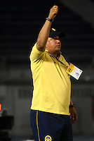 BARRANQUILLA  -COLOMBIA, 2-FEBRERO-2015. Calixto Chiquillo  director tecnico  de Uniautonoma   durante partido contra Alianza Petrolera   por la fecha 1 de la Liga çguila I 2015 jugado en el estadio Metropolitano  de la ciudad de Barranquilla./ Calixto Chiquillo  coach of Uniautonoma   during the match against Alianza Petrolera  for the first date of the Aguila League I 2015 played at Metropolitano  stadium in Barranquilla city<br />  . Photo / VizzorImage / Alfonso Cervantes / Stringer