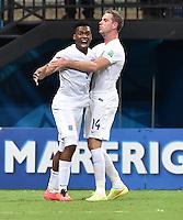 FUSSBALL WM 2014  VORRUNDE    Gruppe D     England - Italien                         14.06.2014 Daniel Sturridge (li) bejubelt mit Jordan Henderson (re, England) sein Tor zum 1:1
