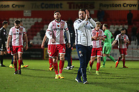 Stevenage manager Darren Sarll thanks the fans during Stevenage vs Notts County, Sky Bet EFL League 2 Football at the Lamex Stadium on 11th November 2017