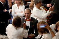 United States Representative Hakeem Jeffries (Democrat of New York) on the floor prior to US President Donald J. Trump delivering his second annual State of the Union Address to a joint session of the US Congress in the US Capitol in Washington, DC on Tuesday, February 5, 2019. Photo Credit: Alex Edelman/CNP/AdMedia