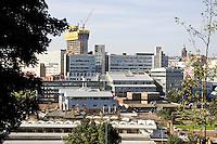 Sheffield city centre and Hallam University campus