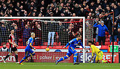 10th February 2018, Bramall Lane, Sheffield, England; EFL Championship football, Sheffield United versus Leeds United; Pierre-Michel Lasogga of Leeds United turns to celebrate scoring the equalising goal in the 46th minute making it 1-1