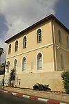 Israel, Southern Coastal Plain, historic building at Achad Ha-Am St, Rishon Letzion