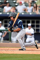 Corpus Christi Hooks outfielder Joe Sclafani (14) at bat during a game against the NW Arkansas Naturals on May 26, 2014 at Arvest Ballpark in Springdale, Arkansas.  NW Arkansas defeated Corpus Christi 5-3.  (Mike Janes/Four Seam Images)