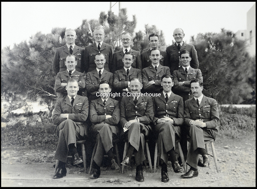 BNPS.co.uk (01202 558833)<br /> Pic: Charterhouse/BNPS<br /> <br /> The remarkable story of how an RAF officer drove 200 miles behind enemy lines to rescue a crashed bomber and its crew in the nick of time can be told after his gallantry medals were put up for sale.<br /> <br /> Group Captain Clive Stanbury sprung into action after learning of the perilous state of the Wellington bomber which was damaged during a belly-landing in the North African desert in 1942.<br /> <br /> He loaded a captured German lorry with a spare propeller and undercarriage parts and drove through the night deep into enemy territory to reach the stricken aircraft.<br /> <br /> Gp Capt Stanbury was awarded the prestigious Distinguished Flying Cross, the Distinguished Service Order, ther French Croix de Guerre and the Air Force Cross.<br /> <br /> His medals are being sold by Charterhouse Auctioneers of Dorset.