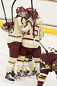 Ashley Motherwell (BC - 18), Emily Field (BC - 15) -  - The visiting University of Minnesota Duluth Bulldogs defeated the Boston College Eagles 3-2 on Thursday, October 25, 2012, at Kelley Rink in Conte Forum in Chestnut Hill, Massachusetts.