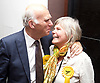 General Election count for the Twickenham &amp; Richmond Park constituencies at the Twickenham Rugby Stadium, Twickenham, Middlesex, Great Britain <br /> 8th June 2017 <br /> <br /> Vince Cable <br /> wins Twickenham seat <br /> <br /> with wife Rachel <br /> <br /> Photograph by Elliott Franks <br /> Image licensed to Elliott Franks Photography Services