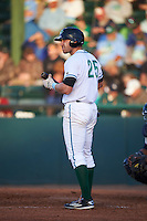 Daytona Tortugas third baseman Taylor Sparks (25) at bat during a game against the Fort Myers Miracle on April 17, 2016 at Jackie Robinson Ballpark in Daytona, Florida.  Fort Myers defeated Daytona 9-0.  (Mike Janes/Four Seam Images)