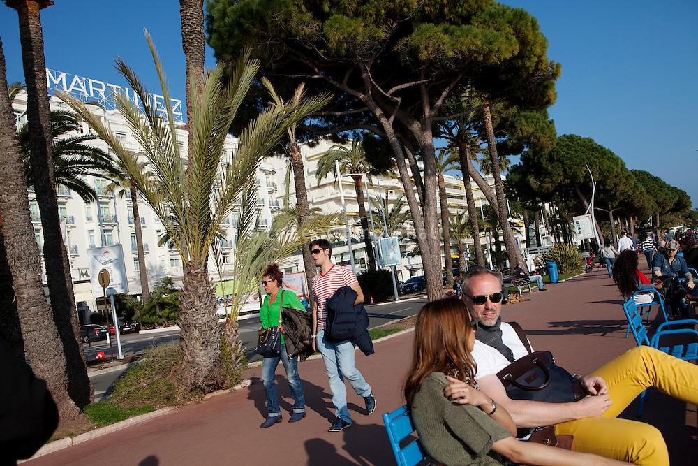La Croisette, Cannes, France, 3 April 2013