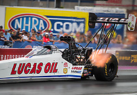 Oct 28, 2016; Las Vegas, NV, USA; NHRA top fuel driver Richie Crampton during qualifying for the Toyota Nationals at The Strip at Las Vegas Motor Speedway. Mandatory Credit: Mark J. Rebilas-USA TODAY Sports