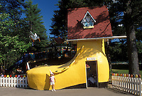 shoe, Glen, NH, New Hampshire, North Conway, Old Woman who Lived in a Shoe at Story Land, a family park, in the town of Glen.