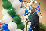 Mayor Turner gave a speech about the impact of dedicated council members, community activists, and stakeholders at the ribbon cutting held at the Brentwood Baptist Church