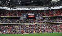 London, England. New world record during the Saracens and Harlequins Aviva Premiership with a world record crowd for a club rugby match at Wembley Stadium. 31March 2012 at Wembley Stadium, London,England,