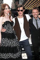 August 25, 2012 Karen Gillan, Matt Smith, Chris Hardwick attend the US premiere  screening  of Doctor Who  at the Ziegfeld Theatre in New York City.Credit:&copy; RW/MediaPunch Inc. /NortePhoto.com<br />