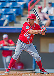 29 February 2016: Washington Nationals catcher Jose Lobaton in action during an inter-squad pre-season Spring Training game at Space Coast Stadium in Viera, Florida. Mandatory Credit: Ed Wolfstein Photo *** RAW (NEF) Image File Available ***
