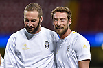 Claudio Marchisio of Juventus and Gonzalo Higuain of Juventus during the training session ahead the UEFA Champions League Final between Real Madrid and Juventus at the National Stadium of Wales, Cardiff, Wales on 2 June 2017. Photo by Giuseppe Maffia.<br /> <br /> Giuseppe Maffia/UK Sports Pics Ltd/Alterphotos