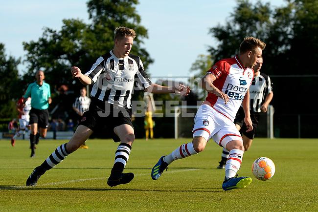 SCHOONEBEEK - Voetbal, SVV 04 - FC Emmen, voorbereiding seizoen 2018-2019, 06-07-2018,  FC Emmen speler Wouter Marinus speelt zich vrij