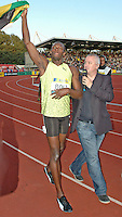 Photo: Tony Oudot/Richard Lane Photography..Aviva London Grand Prix. 24/07/2009. .Usain Bolt of Jamaica after winning the Men's 100m.
