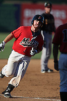Tyler Marlette #30 of the High Desert Mavericks runs the bases after hitting a home run during a game against the Modesto Nuts at Heritage Field on June 29, 2014 in Adelanto, California. High Desert defeated Modesto, 6-1. (Larry Goren/Four Seam Images)
