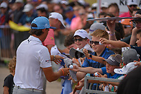 Rickie Fowler (USA) signs autographs for kids following day 3 of the Valero Texas Open, at the TPC San Antonio Oaks Course, San Antonio, Texas, USA. 4/6/2019.<br /> Picture: Golffile | Ken Murray<br /> <br /> <br /> All photo usage must carry mandatory copyright credit (&copy; Golffile | Ken Murray)