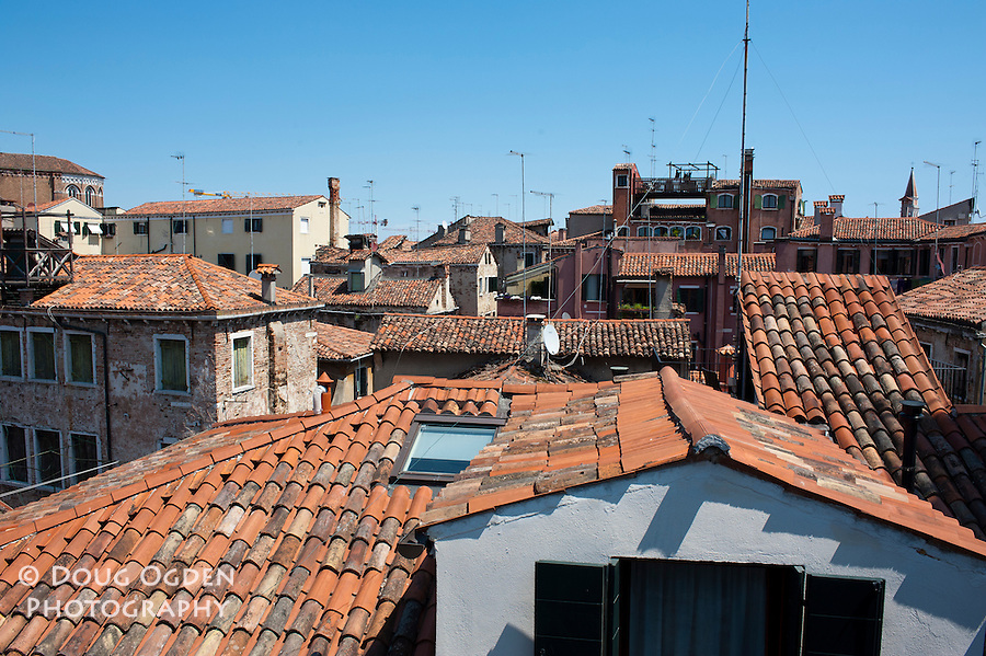 A view from the rooftops, Venice, Italy