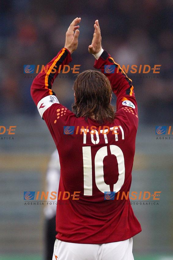Roma 22/2/2004 <br /> Roma Siena 6-0 <br /> Francesco Totti (Roma) celebrate his goal (6-0 for Roma)<br /> Photo Andrea Staccioli Insidefoto