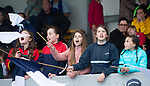 Bridgetown fans cheer on their school against Kilkishen/O Callaghan's Mills during their Schools Division 5 final at Cusack Park. Photograph by John Kelly