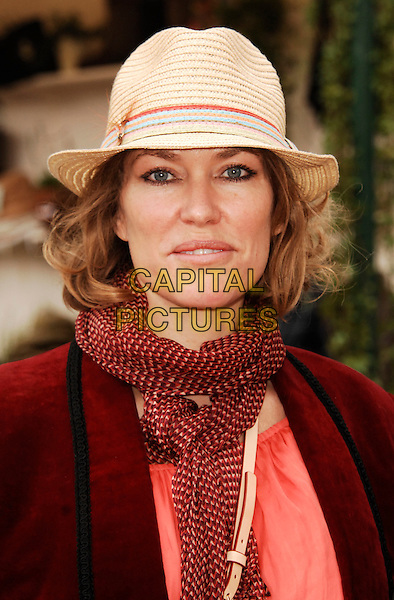 Cerys Matthews .The Chelsea Flower Show 2012, London, 21st May 2012 picture by Wizard..May 21st, 2012.headshot portrait orange red scarf maroon burgundy beige hat .CAP/WIZ.© Wizard/Capital Pictures.