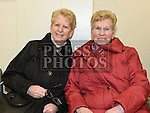 Clare Murray and Doreen Coombes pictured at the Holy Family Christmas Draw. Photo:Colin Bell/pressphotos.ie