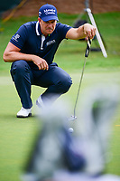 Henrik Stenson (SWE) lines up a putt on the practice green during Wednesday's preview of the PGA Championship at the Quail Hollow Club in Charlotte, North Carolina. 8/9/2017.<br /> Picture: Golffile | Ken Murray<br /> <br /> <br /> All photo usage must carry mandatory copyright credit (&copy; Golffile | Ken Murray)