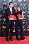 Pedro Sanchez and Begona Gomez attends red carpet of Goya Cinema Awards 2018 at Madrid Marriott Auditorium in Madrid , Spain. February 03, 2018. (ALTERPHOTOS/Borja B.Hojas)
