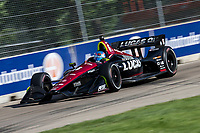 Robert Wickens, #6 Honda, action, Detroit Grand Prix, IndyCar race, Belle Isle, Detroit, MI, June 2018.(Photo by Brian Cleary/bcpix.com)