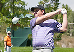 August 5, 2012:  J.J. Henry from Ft. Worth, TX tees off on the 2nd hole during the final round of the 2012 Reno-Tahoe Open Golf Tournament at Montreux Golf & Country Club in Reno, Nevada.