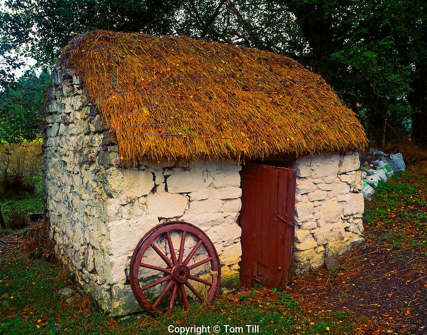 "Old Irish Cottage  LAke Isle of Innisfree  County Sligo, Republic of Ireland  Made famous in William Butler Yeats' ""Lake Isle of Innisfree""  September"