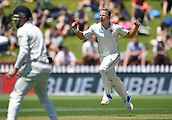 1st December 2017, Basin Reserve, Wellington, New Zealand; International Test Cricket, Day 1, New Zealand versus West Indies;  Neil Wagner celebrates the wicket of Hetmyer