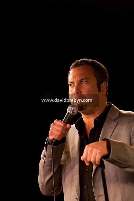 Comedian Ahmed Ahmed performs in the 6th Annual NY Arab-American Comedy Festival in New York, USA, 13 May 2009.