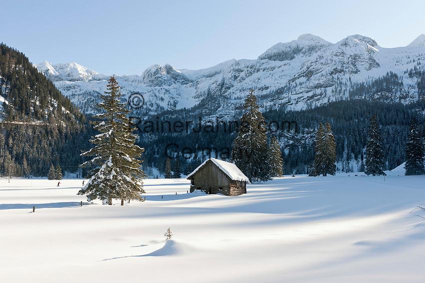 Oesterreich, Salzburger Land, Pongau, bei Obertauern: Skilanglaufgebiet rund um die Gnadenalm   Austria, Salzburger Land, Pongau, near Obertauern: cross-country ski area at Gnadenalm