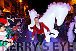 Killarney Liberace Jack Healy entertaining the crowd at the Christmas in Killarney parade on Saturday evening