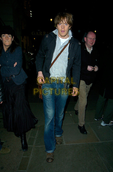 "KRIS MARSHALL.Leaving the Garrick Theatre after his performance in ""Treats"", London, England, March 27th 2007..full length jeans shirt black jacket bag  chris.CAP/CAN.©Can Nguyen/Capital Pictures"
