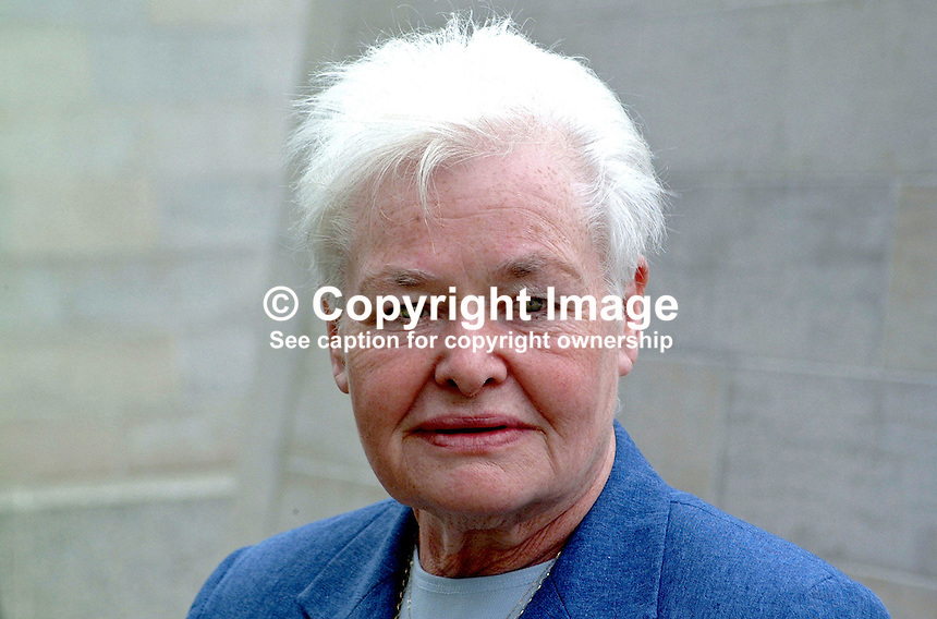 Marie Moore, Provisional Sinn Fein member of Belfast City Council. Ref: 2001051717..Copyright Image from Victor Patterson, 54 Dorchester Park, Belfast, UK, BT9 6RJ..Tel: +44 28 9066 1296.Mob: +44 7802 353836.Voicemail +44 20 8816 7153.Skype: victorpattersonbelfast.Email: victorpatterson@mac.com.Email: victorpatterson@ireland.com (back-up)..IMPORTANT: If you wish to use this image or any other of my images please go to www.victorpatterson.com and click on the Terms & Conditions. Then contact me by email or phone with the reference number(s) of the image(s) concerned.