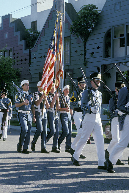 San Diego CA Young teen boys at military academy on weekend parade drill